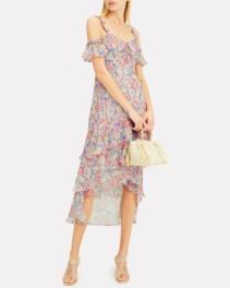 INTERMIX Sophia High-Low Blush / Floral Printed Dress