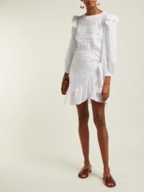ISABEL MARANT ÉTOILE Telicia Ruffle-trim Linen White Dress