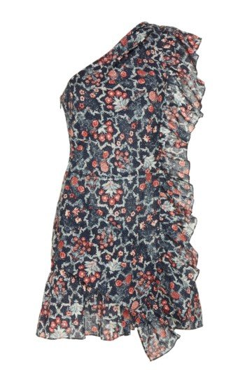 ISABEL MARANT ÉTOILE Teller Linen Ruffle Multi / Printed Dress