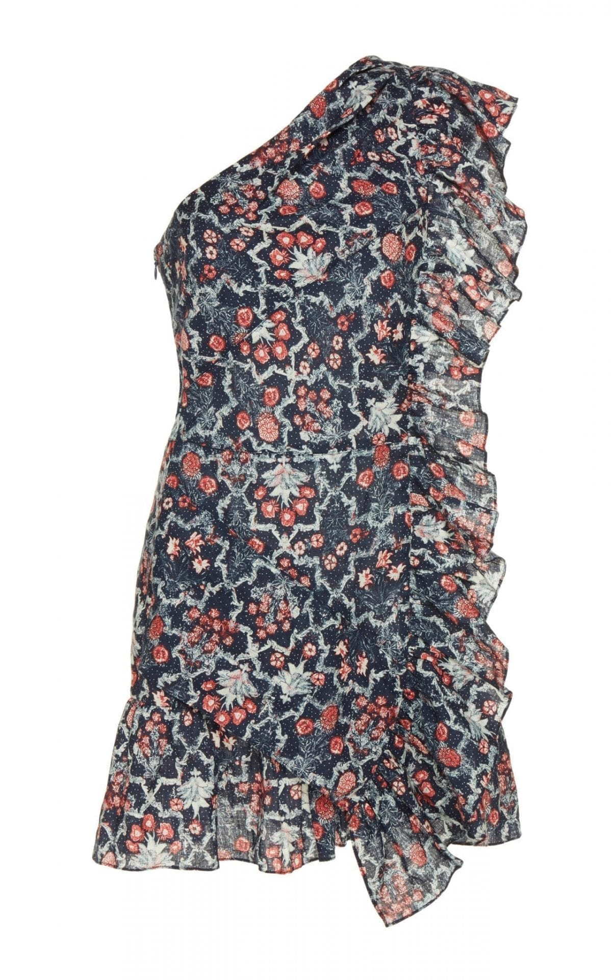 12d5b2c34fa ISABEL MARANT ÉTOILE Teller Linen Ruffle Multi / Printed Dress - We ...