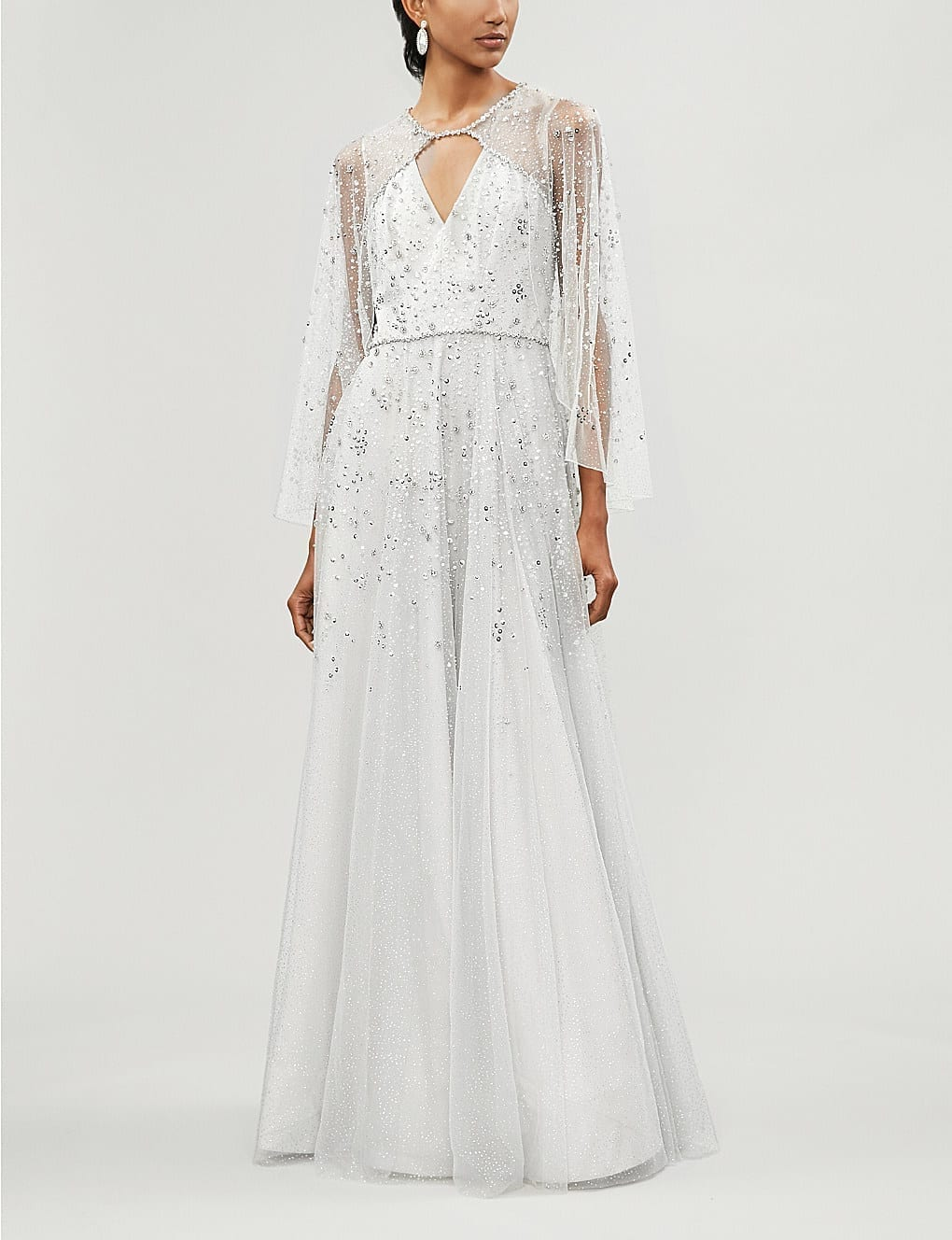 JENNY PACKHAM Windemere Embellished Tulle Snowdrop Gown
