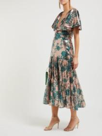 JOHANNA ORTIZ Modern-day Muse Sequinned Midi Pink Dress
