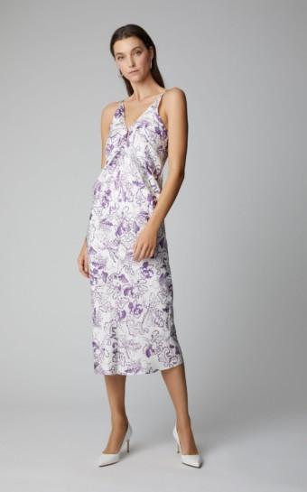 LAKE STUDIO Exclusive Silk-Satin Midi White / Floral Printed Dress