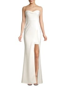 LIKELY Ella Strapless Sweetheart Mermaid White Gown