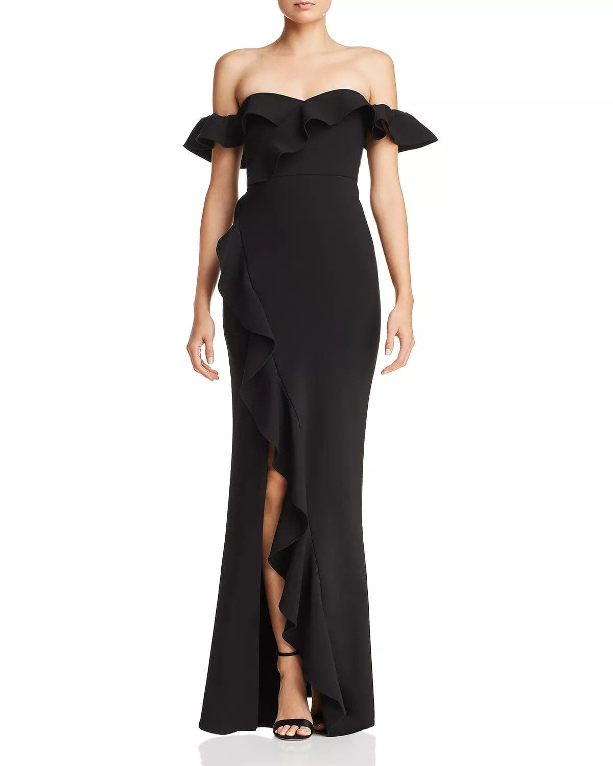LIKELY Miller Off-the-Shoulder Black Gown
