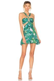 LOVERS + FRIEND Olivia Mini Green Dress