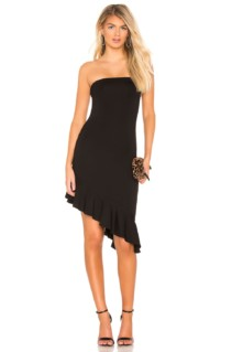 LOVERS + FRIENDS Brenna Midi Black Dress