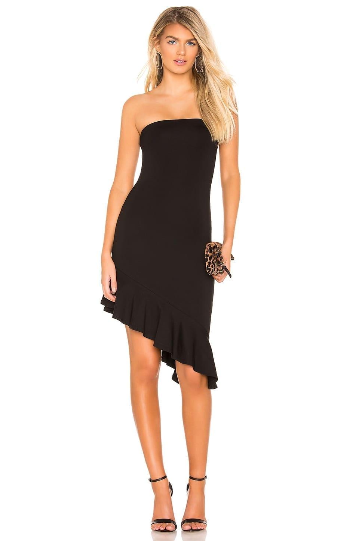 LOVERS + FRIENDS Brenna Midi Black Dress