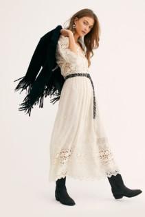 LOVESHACKFANCY Delfina Cream Dress