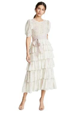LOVESHACKFANCY Roxanne Biscotti / Floral Printed Dress