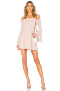 LPA Smocked Mini Blush Dress