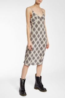 MARC JACOBS Plaid Silk Cami Multicolored Dress
