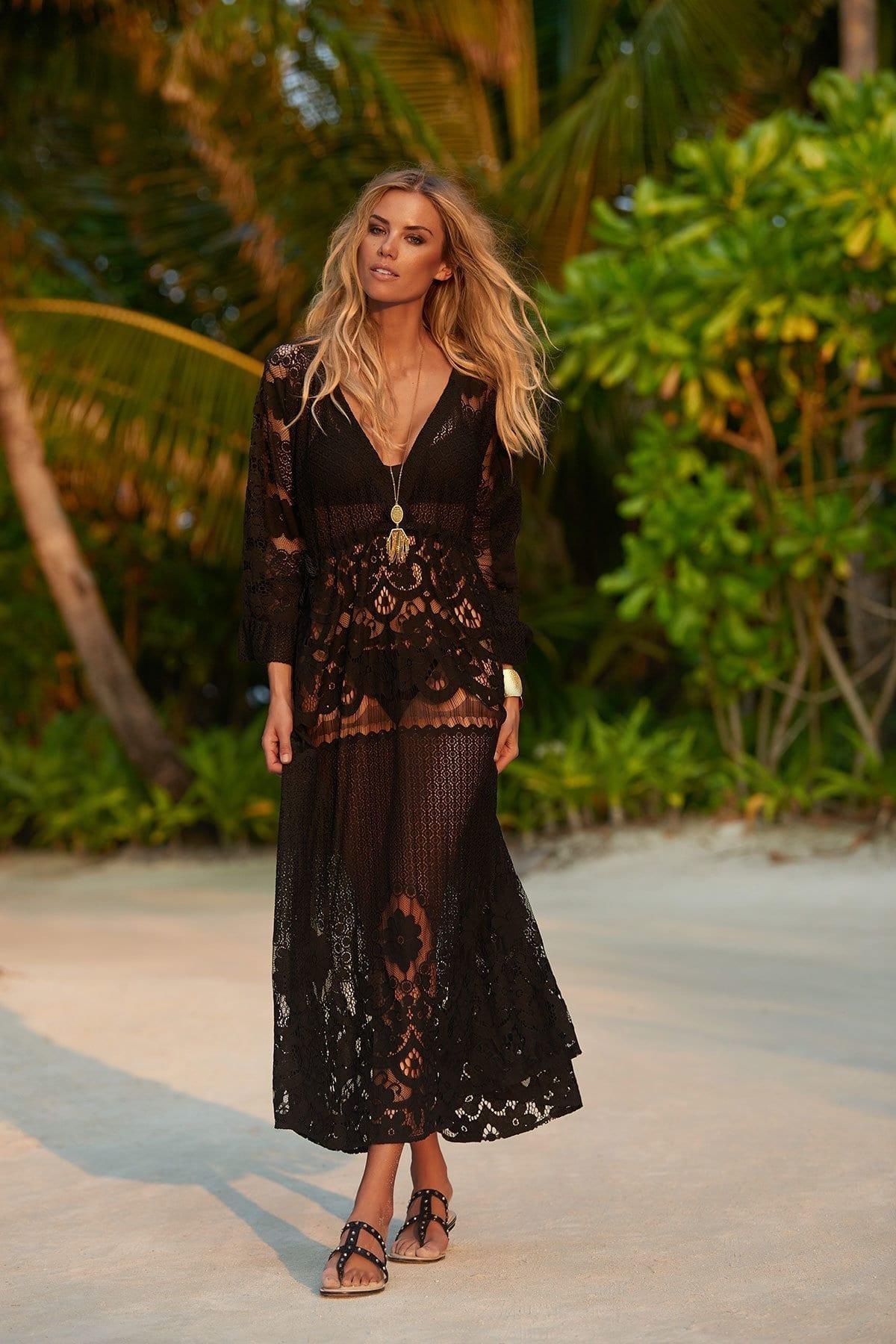 MELISSA ODABASH Melissa Cotton Black Dress