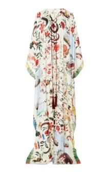 OSCAR DE LA RENTA Silk Satin Kaftan Multi / Printed Dress