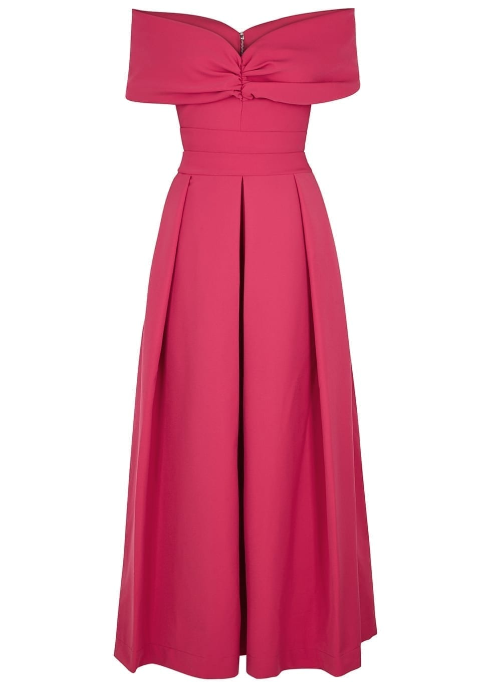 PREEN BY THORNTON BREGAZZI Daniela Ruched Maxi Pink Dress