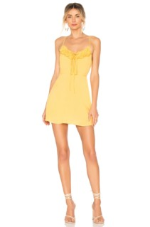 PRIVACY PLEASE Perry Mini Yellow Dress