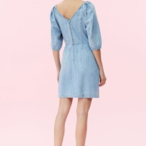 6b9b6375e3b REBECCA TAYLOR La Vie Drapey Denim Blue Dress - We Select Dresses