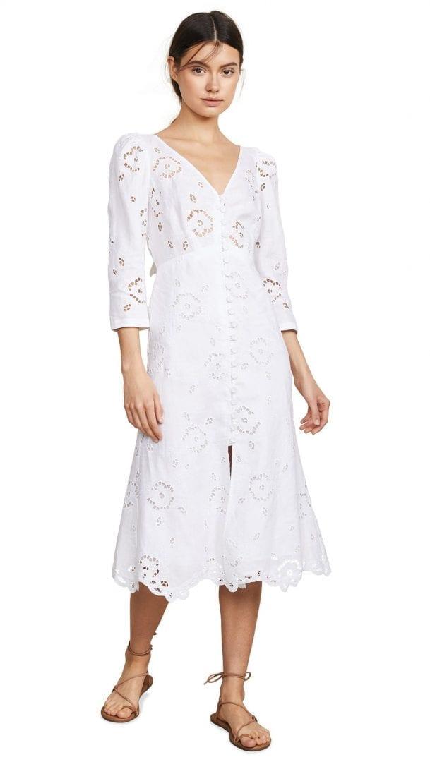 5fd1110bdaf REBECCA TAYLOR Linen Terri White Dress - We Select Dresses