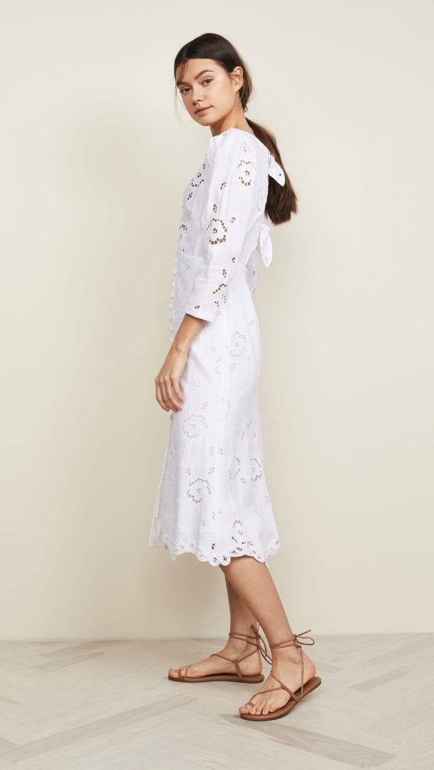 6b7a0baee3c REBECCA TAYLOR Linen Terri White Dress - We Select Dresses