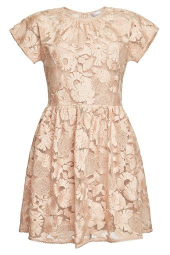 RED VALENTINO Lace Mini Pink Dress