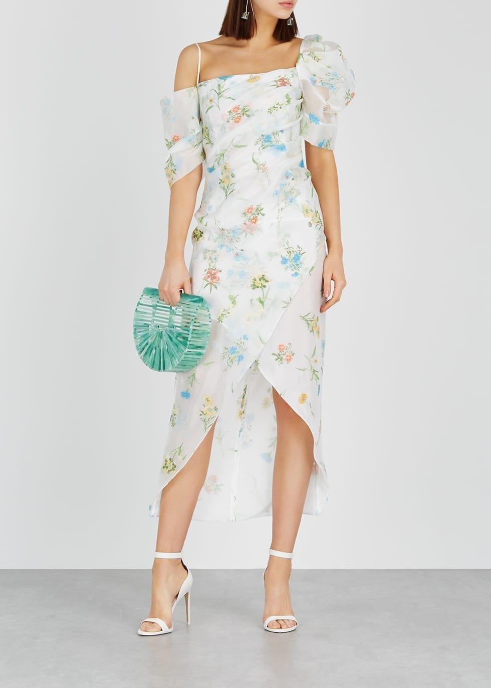 REJINA PYO Layla Floral Organza Off White Dress