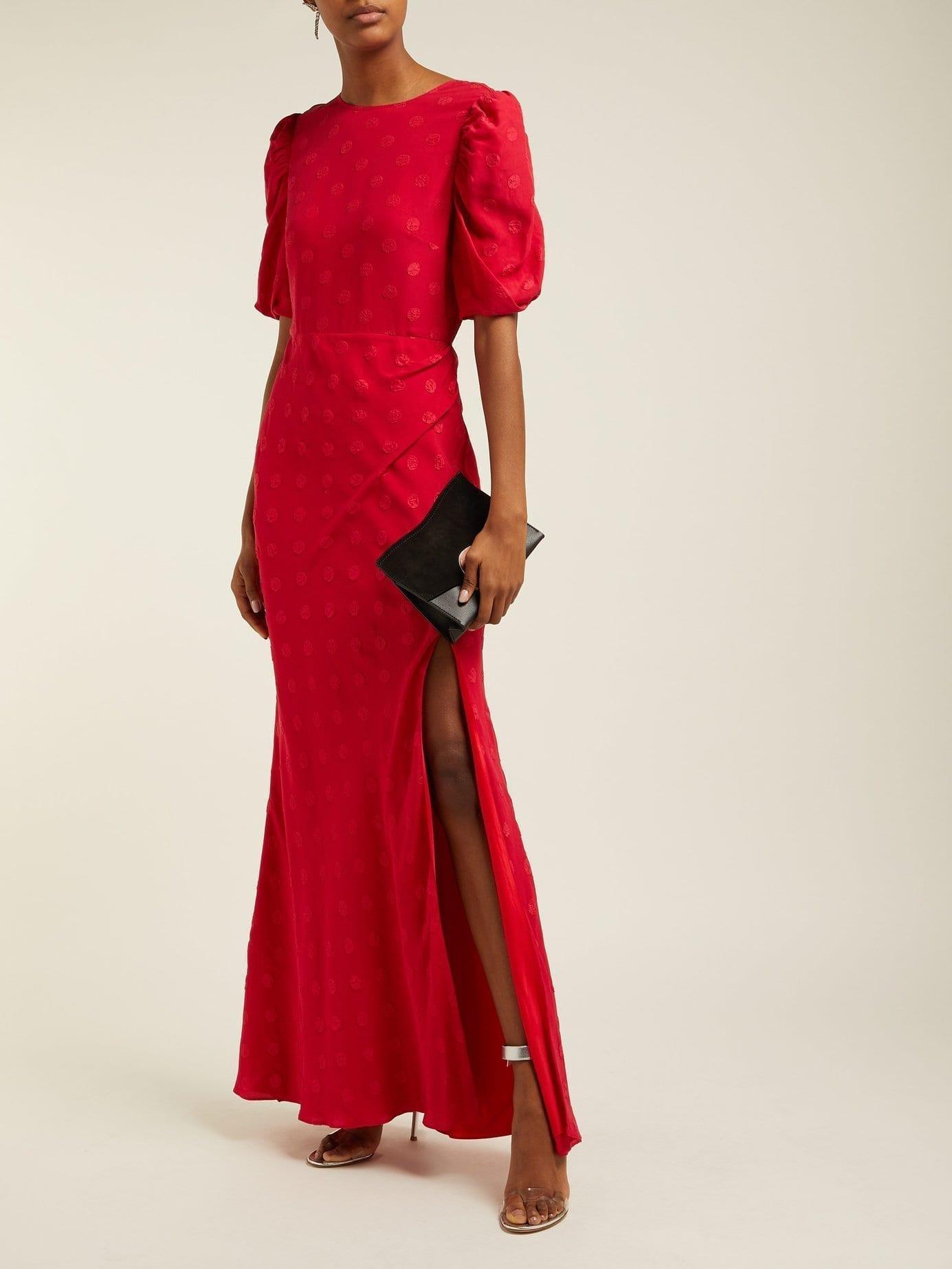 SALONI Annie B Silk Red Dress