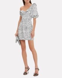 SELF-PORTRAIT Monochrome Printed Mini White / Black Dress