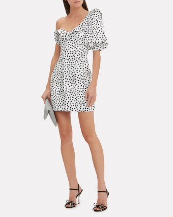 SELF-PORTRAIT Monochrome Printed Mini White / Black Dress