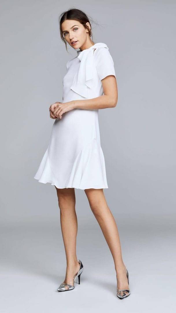 SHOSHANNA Bosher Ivory Dress