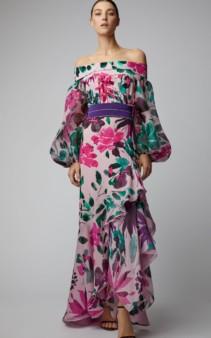 SILVIA TCHERASSI Exclusive Veranera Pink / Floral Printed Dress