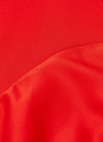SOLACE LONDON 'Tali' Plunge V-neck Off-shoulder Red Dress