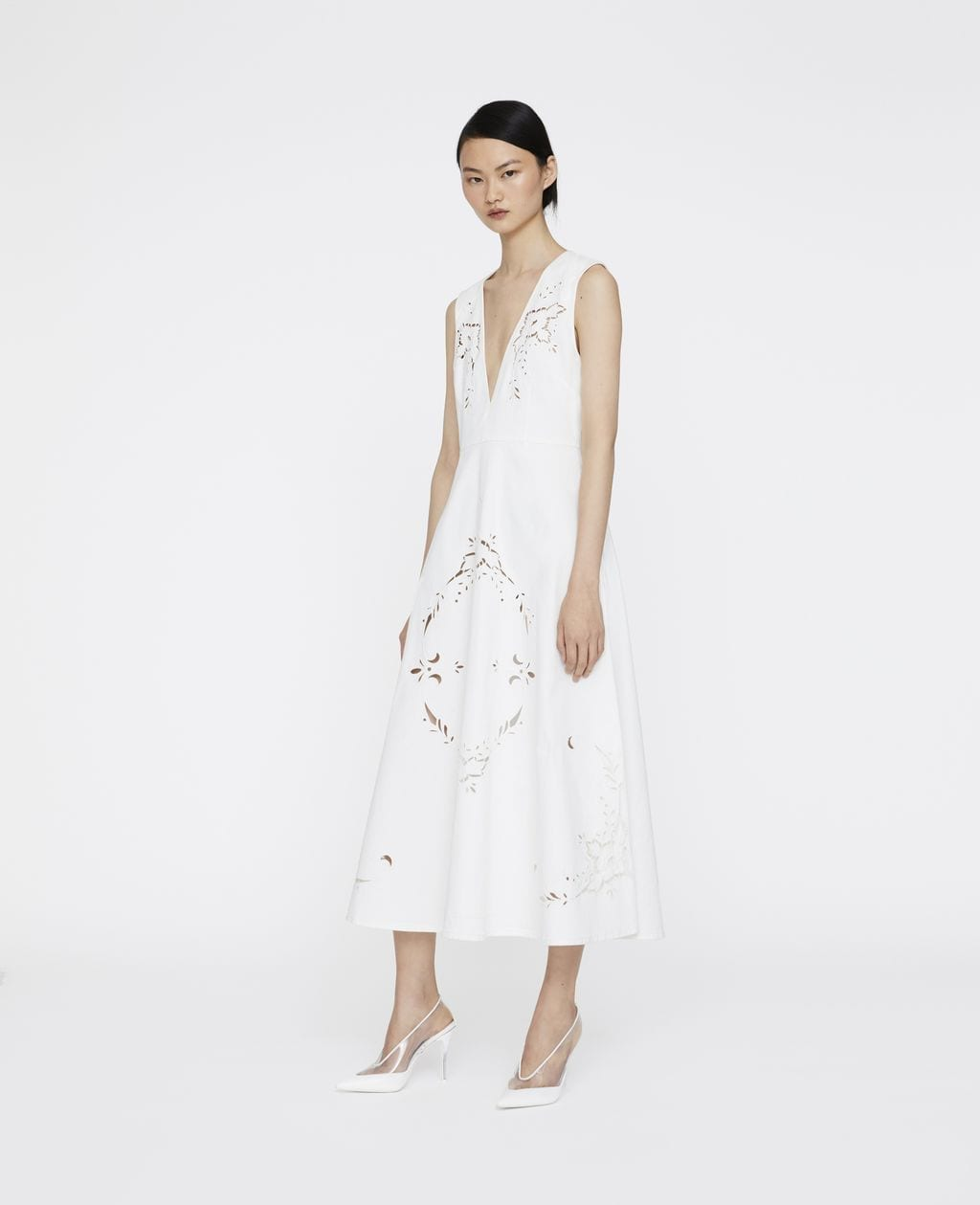 STELLA MCCARTNEY Leyla Embroidered White Dress