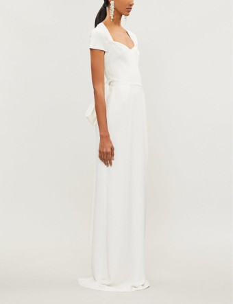 STELLA MCCARTNEY Rose Tie-back Stretch-cady White Gown