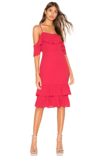 SUPERDOWN Cecily Midi Rose Dress
