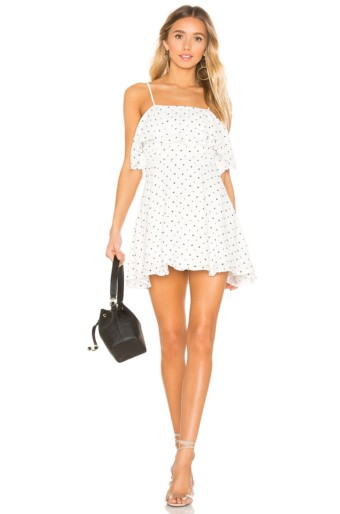 SUPERDOWN Evita Layered White Dress