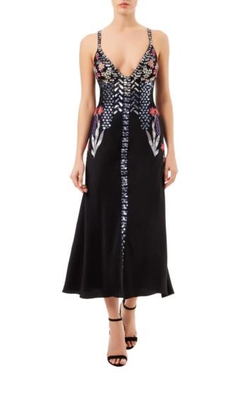 TEMPERLEY LONDON Finale Strappy Black Dress