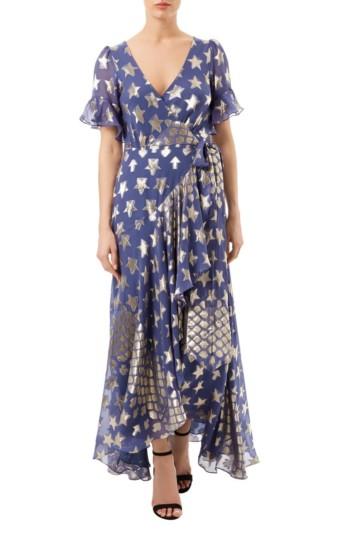TEMPERLEY LONDON Hetty Wrap Blue Dress