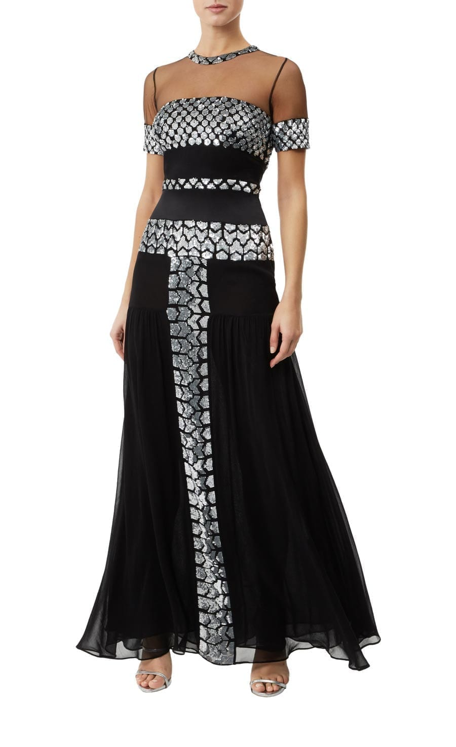 TEMPERLEY LONDON Luminary Black Dress