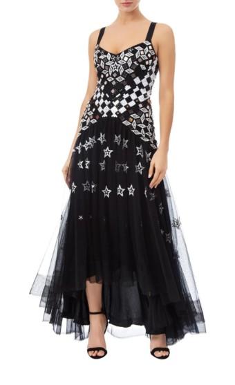 TEMPERLEY LONDON Splendour Strappy Black Dress