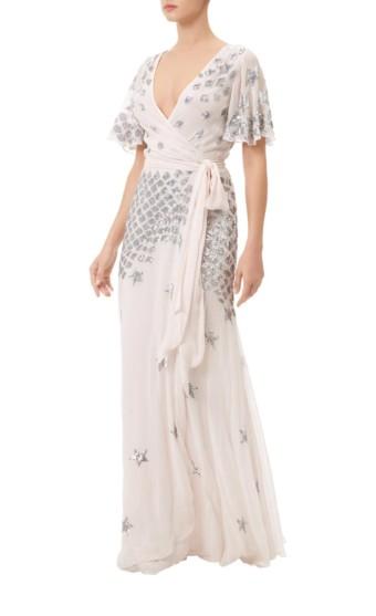 TEMPERLEY LONDON Starlet Wrap Blush Dress