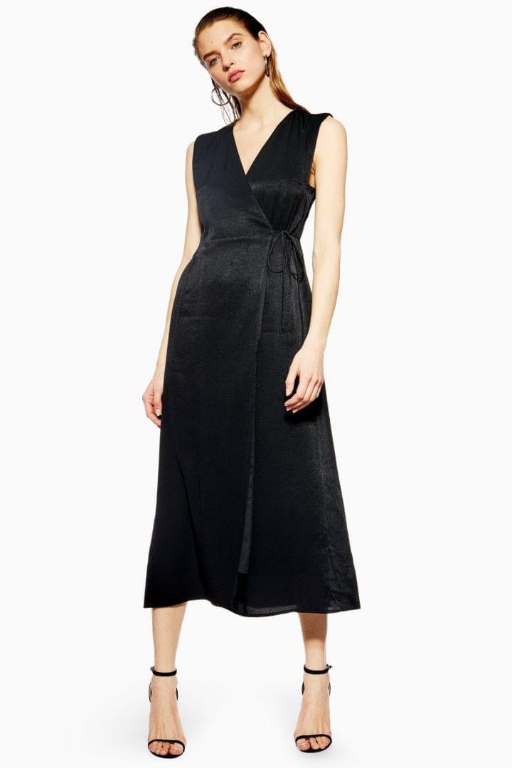 TOP SHOP Boutique Pinafore Black Dress