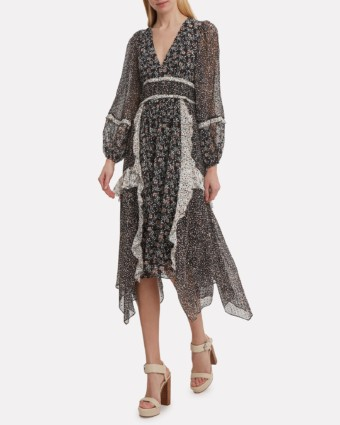 ULLA JOHNSON Noir Primrose Black Dress
