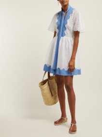 VALENTINO Broderie-anglaise Cotton White Dress