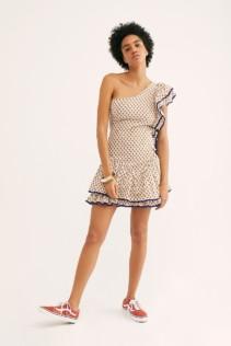 VALIÁNTE Bambi One-Shoulder Ivory Dress