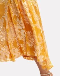 WARM Florence Midi Yellow / Floral Printed Dress