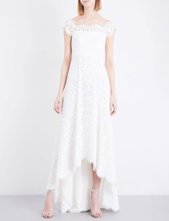 WHISTLES Rose Off-the-shoulder Floral-lace Wedding Cream Dress