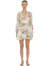 ZIMMERMANN Heathers Printed Linen Mini Multicolored Dress
