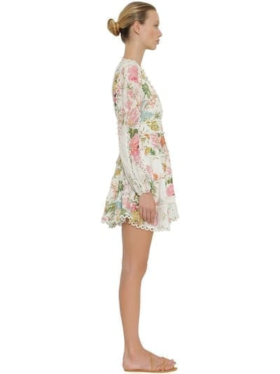 2ca3e200217 ZIMMERMANN Heathers Printed Linen Mini Multicolored Dress - We ...