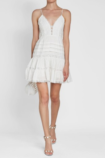 ZIMMERMANN Iris Cotton Camisole White Dress