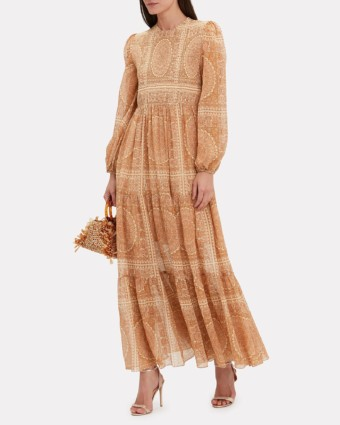 ZIMMERMANN Primrose Paisley Maxi Beige Dress